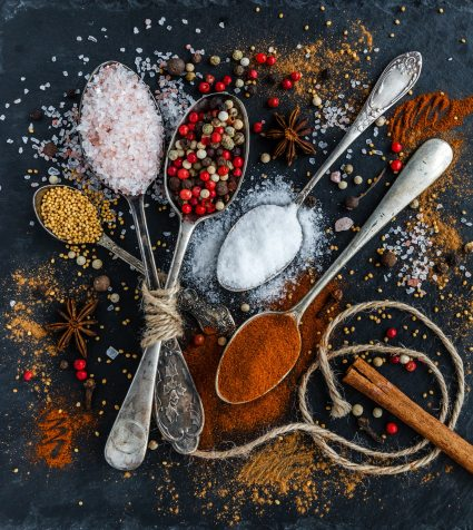 assorted spices cayenne powder