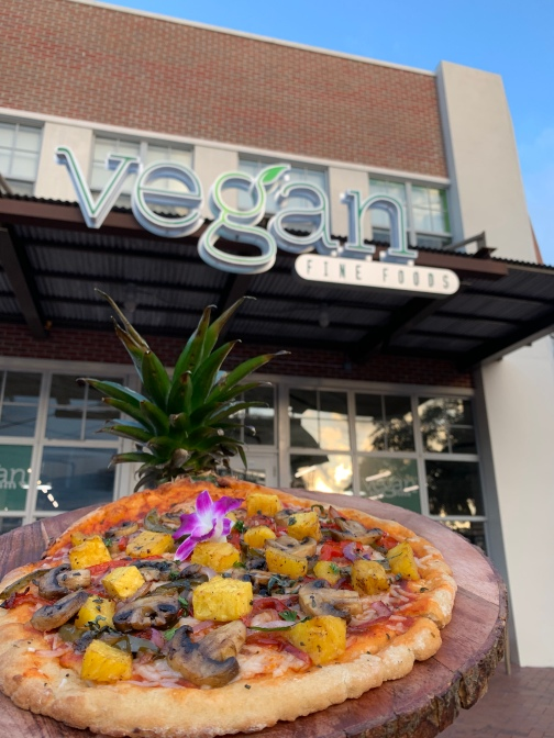 vegan fine foods pizza